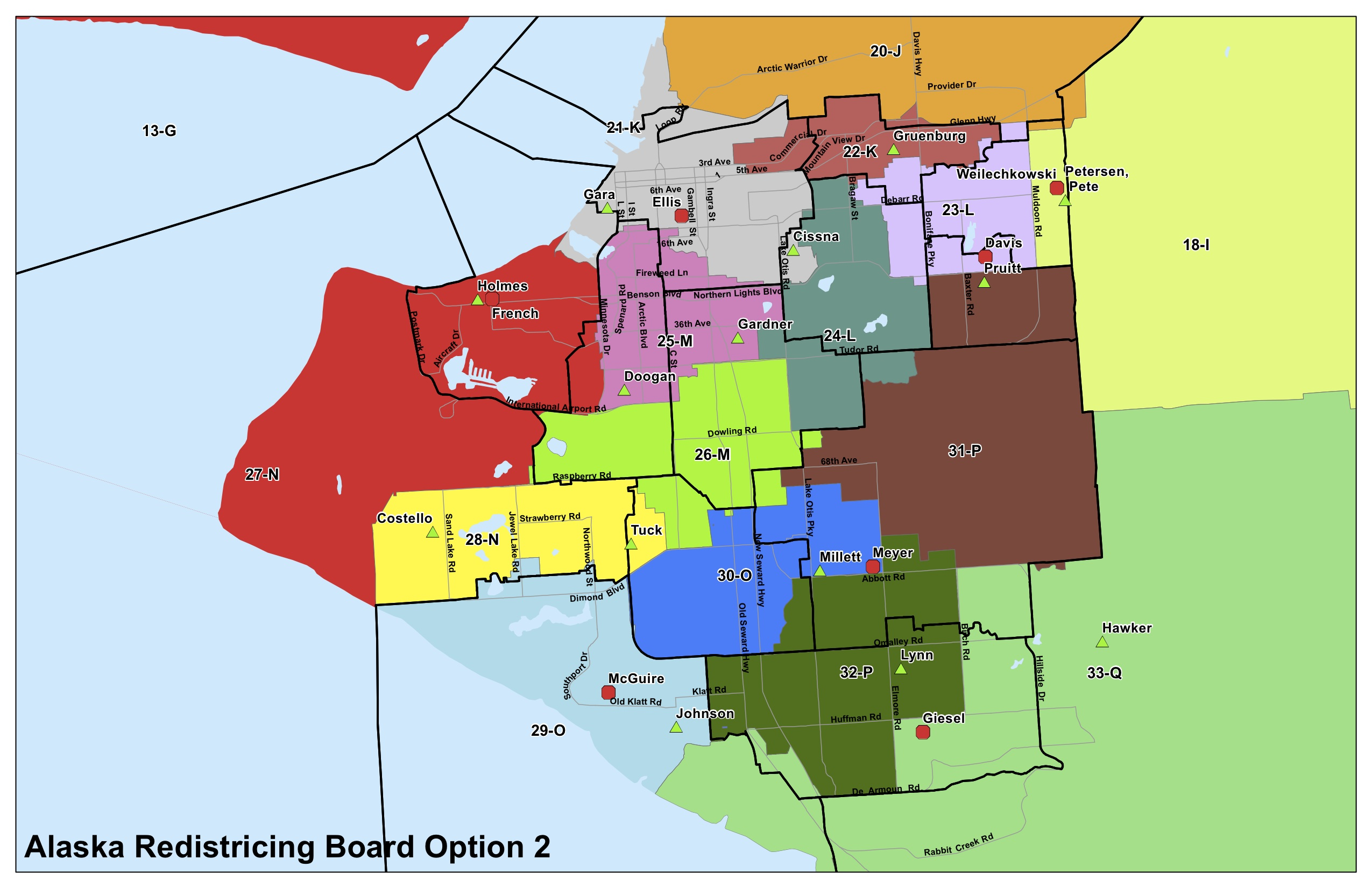 Alaska Redistricting Board Maps For Anchorage And